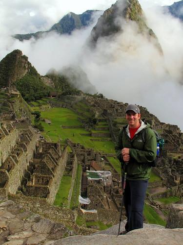 Cameron in Machu Picchu, Peru