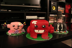 Super Meat Boy (mandrake68) Tags: boy red girl cake dr super velvet meat fetus bandage sugarcade