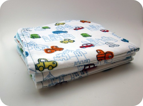 Baby boy gift burp cloths