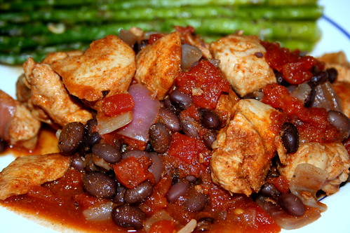 southwest chicken and beans