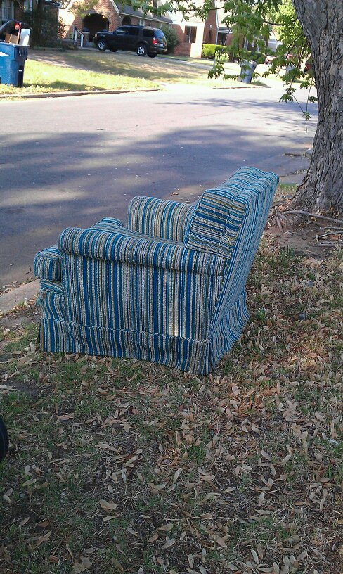 Green Chair on the curb