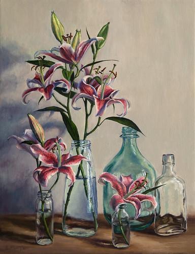 20110403 Oriental Lilies 18x14