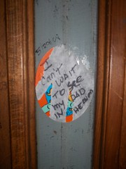 not me but someone (VVVvoy) Tags: daddy bathroom sticker torn oberon afterlife contemplations