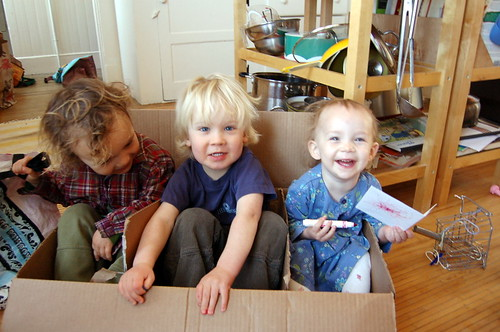 three babies in a box