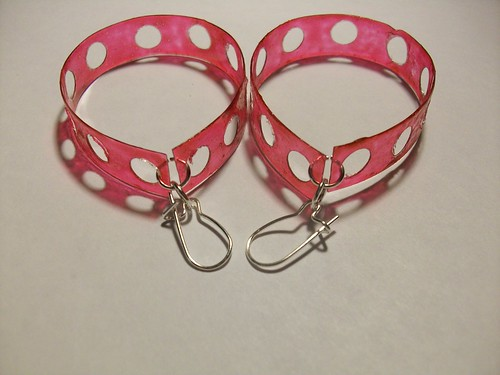 Pink Earrings with Holes