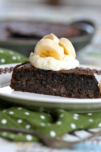 Flourless Chocolate-Banana-Almond Cake 1
