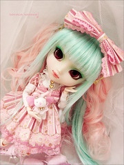 Sweet Princess (Paula ~) Tags: pink red cute eyes doll pretty mint lolita ap pullip angelic prunella coolcat leeke obitsu 25cm rewigged rechipped cotindoll