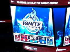 Blue and White Ignite! (msnguy81) Tags: orlando florida arena nba scoreboard amway orlandomagic centralflorida orlandoflorida nbaplayoffs nbabasketball amwaycenter