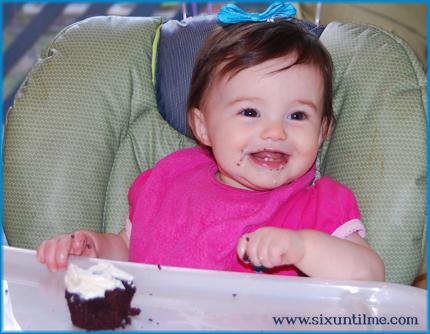Gluten free bird-day cupcake.