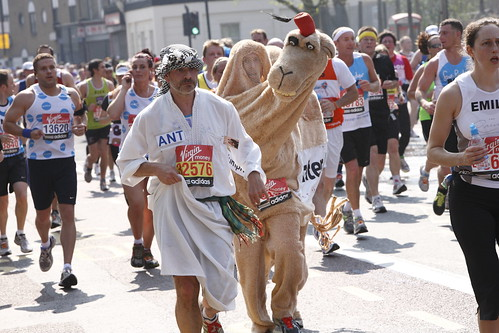 Mustafa and Humphrey the Camel at 8 Miles