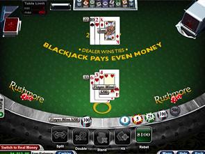 Face Up 21 Blackjack Win
