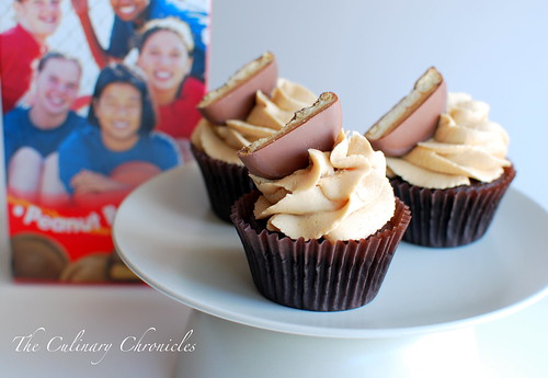 Tagalong Cupcakes by The Culinary Chronicles