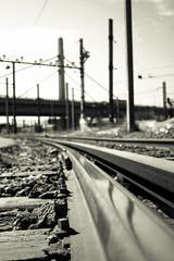 IMG_4333 (Galou2010) Tags: street bridge blackandwhite paris france train noiretblanc rail ciel printemps sncf parisfrance parisien