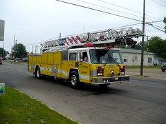 Croswell Ladder (railnut19) Tags: mi truck michigan rig ladder association sandusky croswell firemans