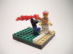 Vignette a day: Grand Slam! (lego27bricks) Tags: ball slam day lego baseball zombie grand vignette base vig
