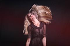 Candice S. (Mariana Quevedo) Tags: portrait black art fashion studio model whimsy foto doubleexposure hairflip marianaquevedophotography
