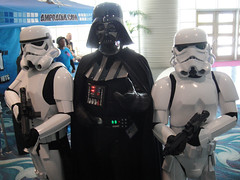 Long Beach Comic Expo 2011 - Darth Vader and his stormtroopers (Doug Kline) Tags: fan starwars costume expo cosplay center longbeach darth convention stormtrooper vader comiccon 2011