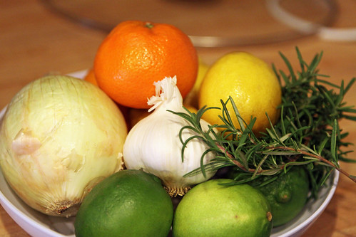 rosemary garlic citrus bowl