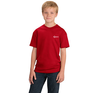 Promotional Items-Port & Company® Essential Youth T-Shirt (Colored) 3353YC 316 Red