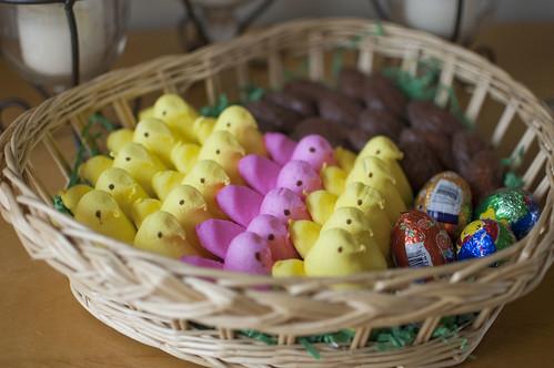 peeps, eggs