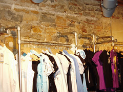 Clothing Racks Built with Kee Klamp Fittings