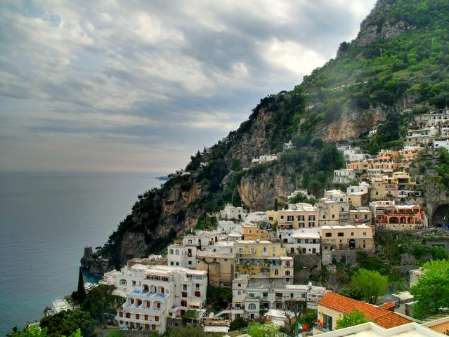Edge of the town of Positano