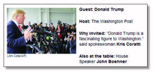 Trump as WP guest