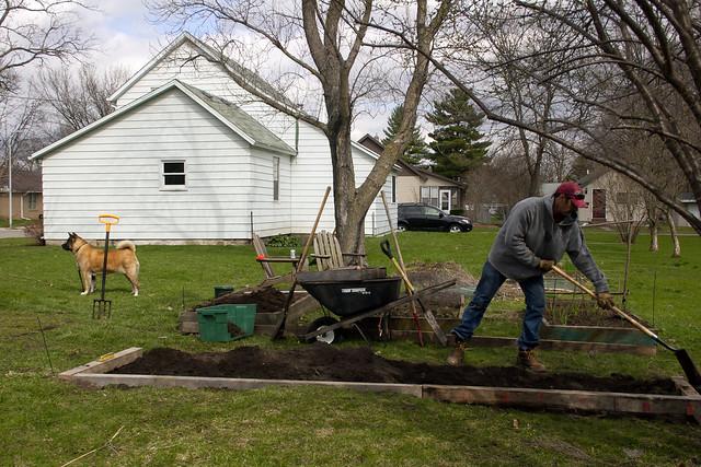 doubling the garden space