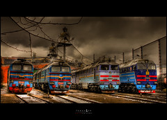 ...Tractive force (Temuulen.B) Tags: depot locomotives 2m62 diesellocomotives dieselpower russianlocomotives 2116 mongolianrailway mongolianmodernization 2116 indepot 2