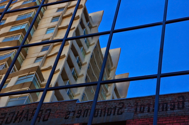 City Laneway Reflection
