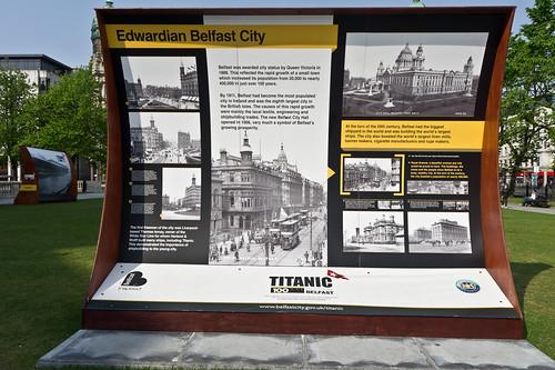 The 'Titanic 100' exhibition - Belfast City Hall.