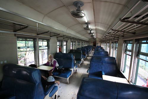 Interior of KCR first class carriage #112, from 1964