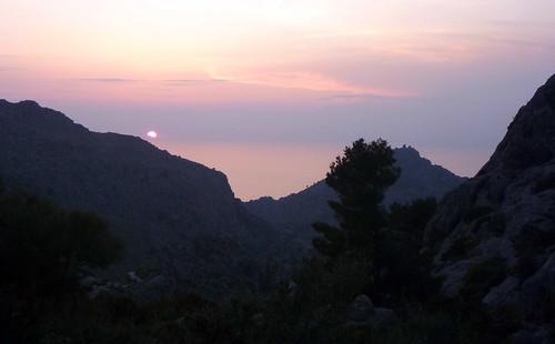 Gorg Blau - Sa Fosca - Puesta de Sol sobre Sa Calobra