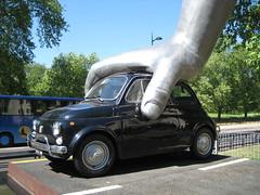 Fiat 500 Vroom Vroom (robsw18) Tags: sculpture london fiat 500 parklane vroomvroom lorenzoquinn