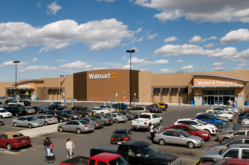 Beautiful Day at the Walmart store in Gladstone, Missouri