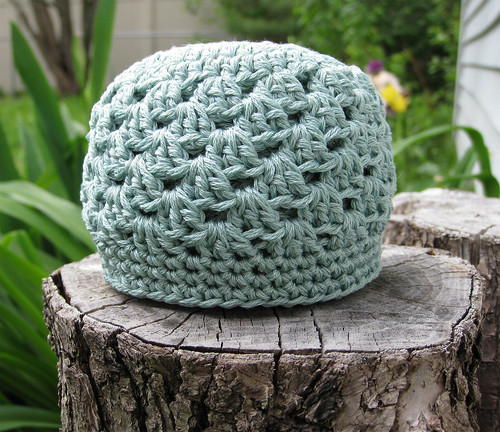 seafoam shell hat