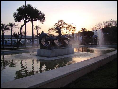 Fuente delfines, Almería