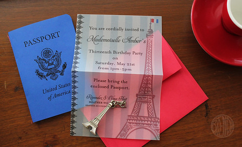 paris party invite