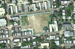 the site, Common Good City Farm shown in NW corner (via Google Earth)