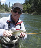 Corey lands an Upper Sac Rainbow with a bamboo rod of his own design