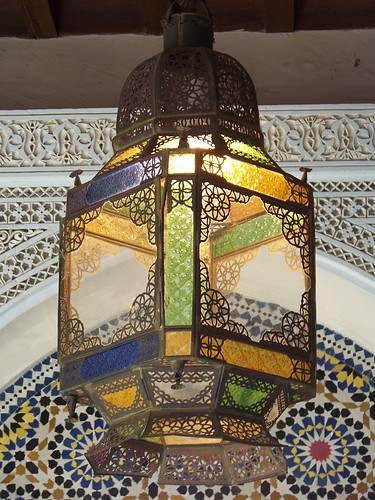 Colorful Lamp in fez House