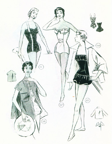 Swimsuit patterns 1957
