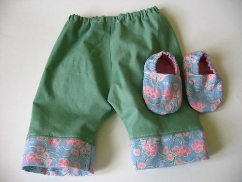 Green and Blue Baby Pants