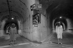 tunnel 045 - sigma dp1 - (atem_y_zeit) Tags: street bw woman japan night women sister twin sigma tunnel symmetry noface tunnelvision dp2  shimizusae hatenataxi  shimizunakano atemzeit atemyzeit