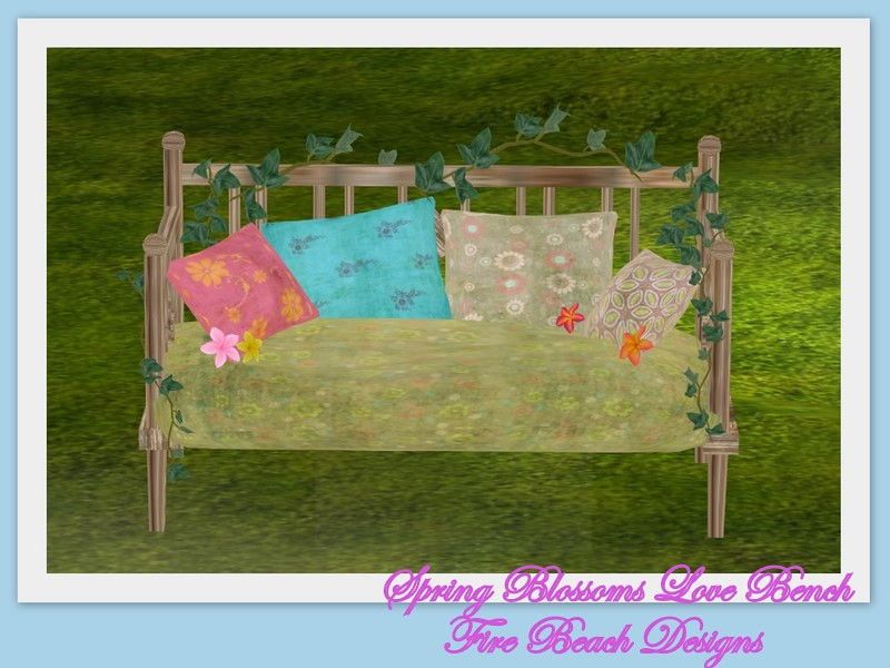 Spring Blossoms Love Bench- Fire Beach Designs