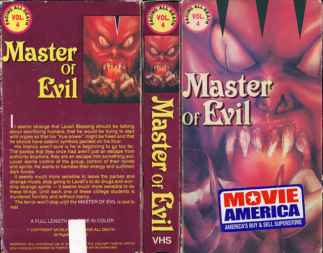 Master Of Evil (VHS Box Art)