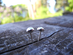 Silver Pebbles Earring Studs