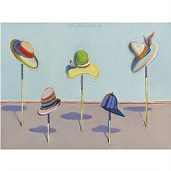 Wayne Thiebaud, Untitled Hats, 1969, Sold for $602,500 at Sotheby's May 9 2011