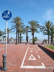 Passeig del Port Olmpic (Francesc_2000) Tags: barcelona city espaa bike bicycle spain europa europe rental bicicleta catalonia lane bici catalunya catalua ciutat espanya carril enbicixbcn