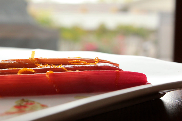 Citrus Roasted Rhubarb